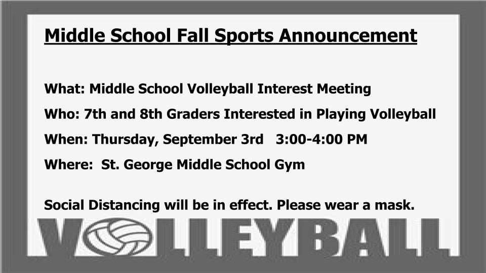 Volleyball Announcement