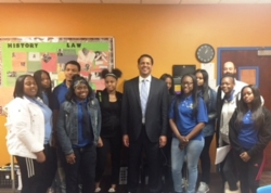 Mayoral Candidate Visits Civic Engagement Class