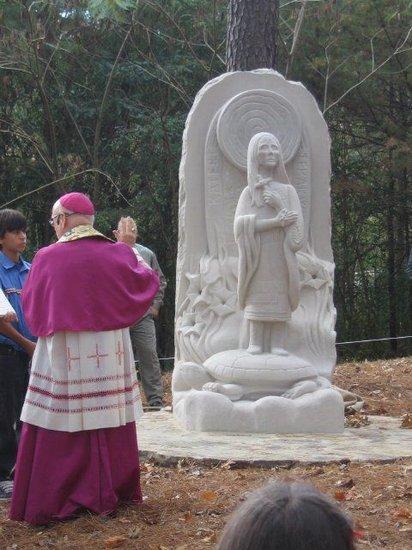 Bishop Foley Blesses Shrine