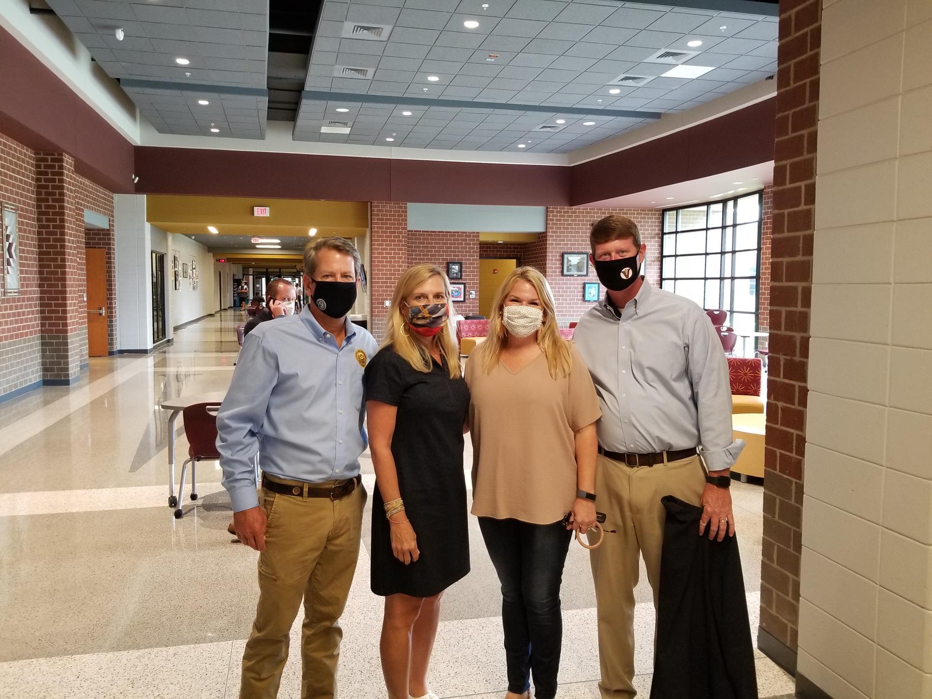 Gov & Mrs. Kemp with Dr. & Mrs Wilcox