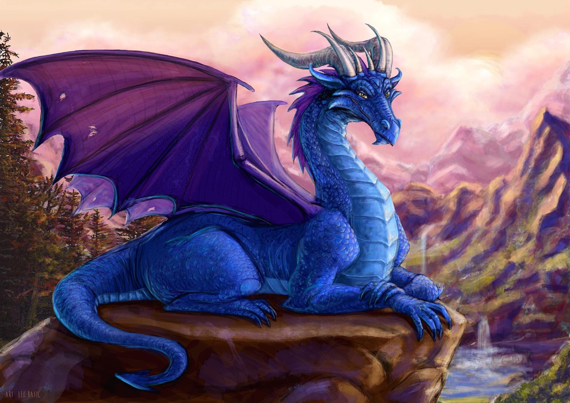 Blue Dragon Designed by Leo Batic