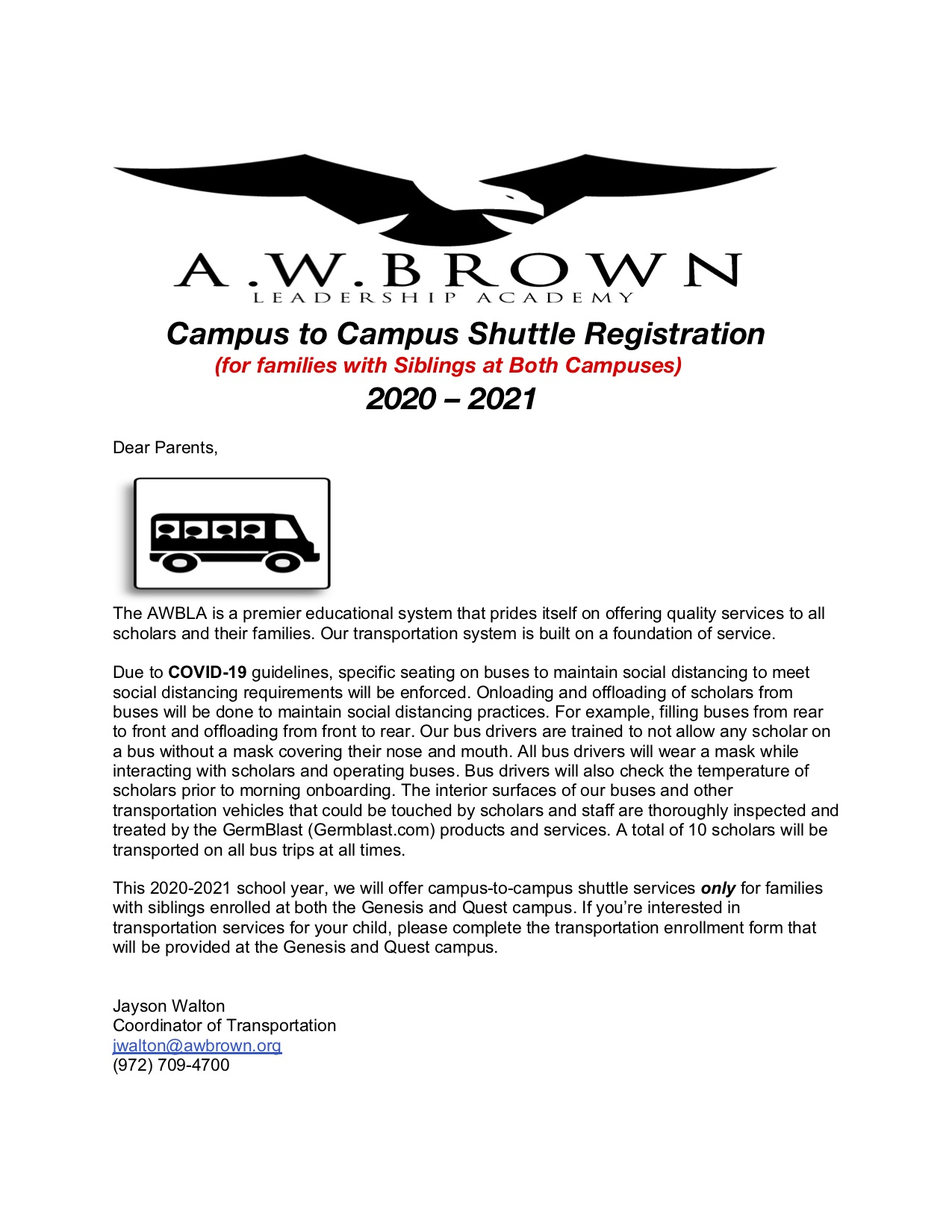 Campus to Campus Shuttle Information