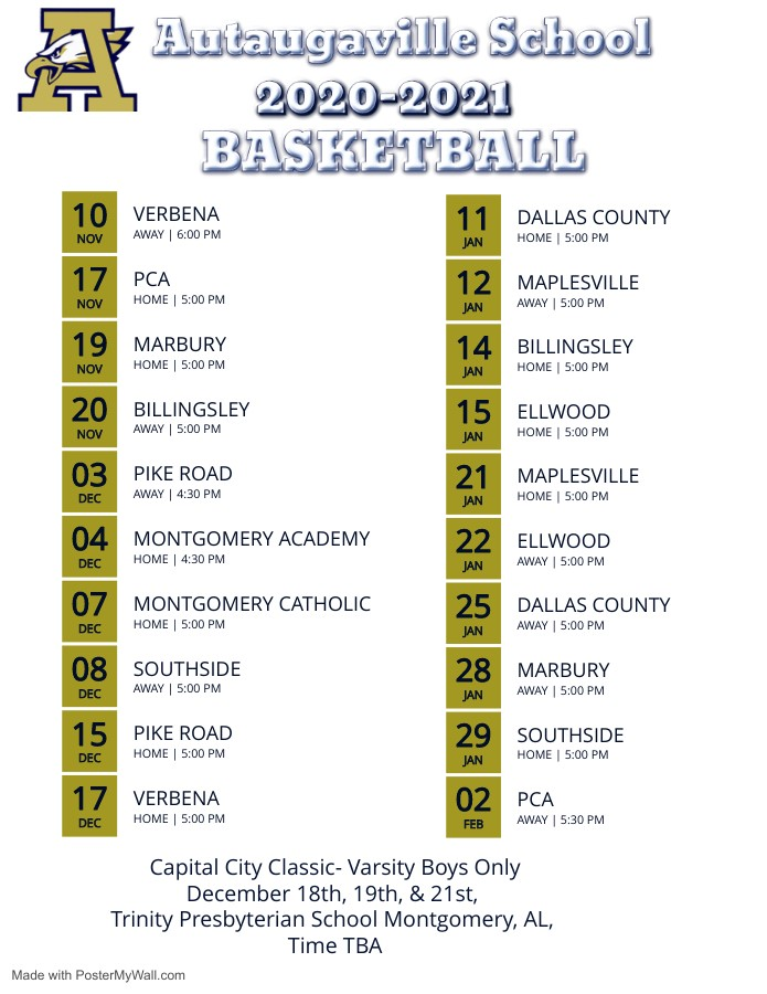 Basketball Schedule