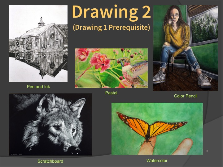 Examples of Drawing 2 student work