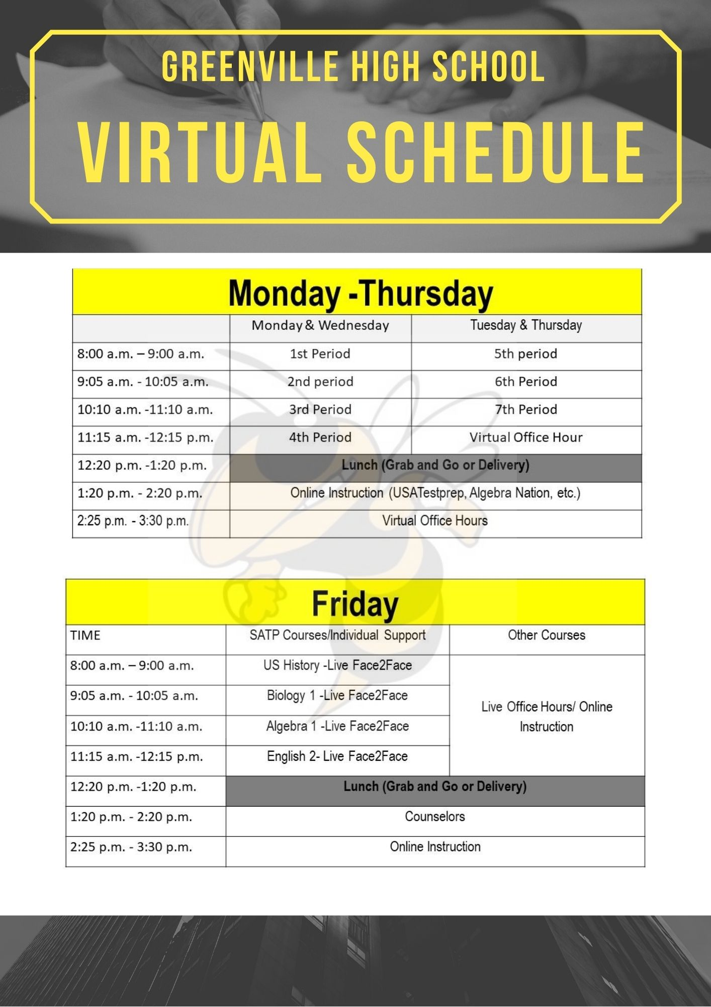 GHS Daily Virtual Schedule
