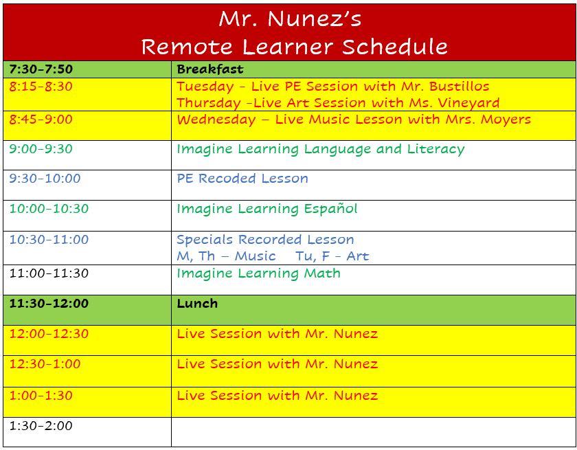 Nunez Remote Learners