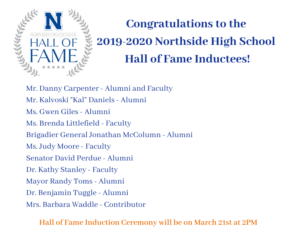 2019-2020 Hall of Fame Inductees