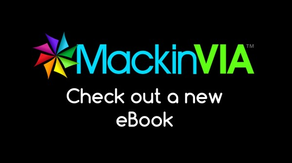 MackinVIA Logo that says check out an ebook