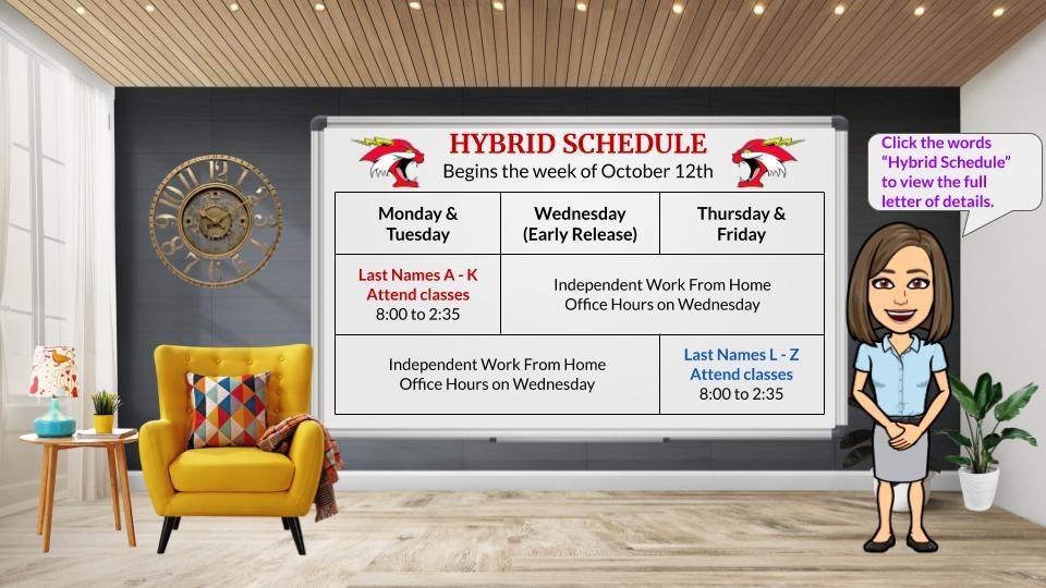 hybrid schedule information