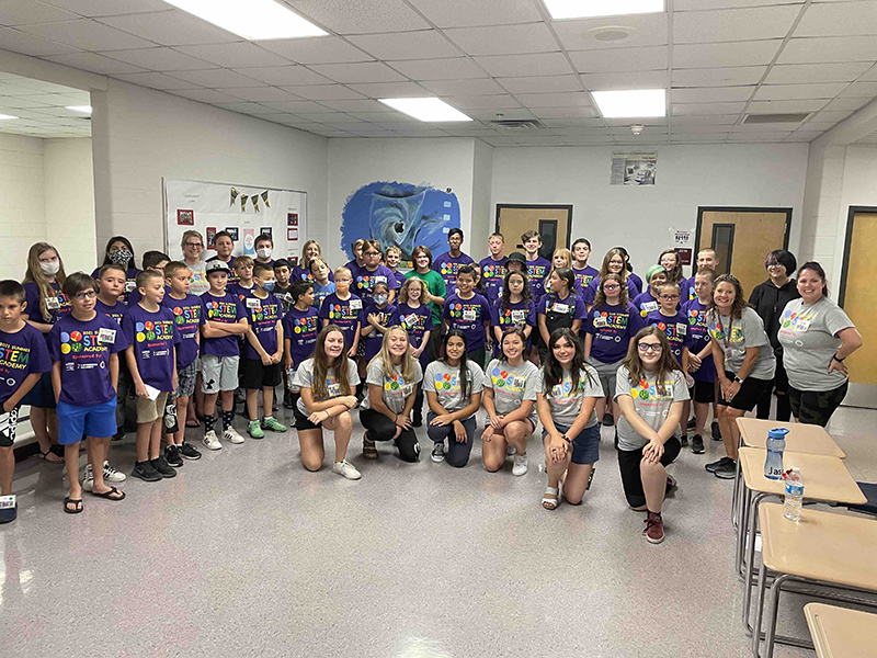 STEM Academy 2021 participants and staff - Session 1