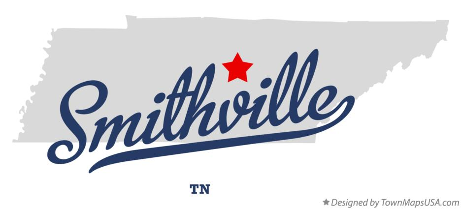 Tennessee Smithville image created by Townmapsusa.com