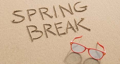 SPRING BREAK: MARCH 8-12, 2021