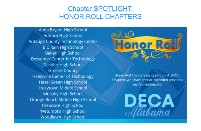 Deca honor roll