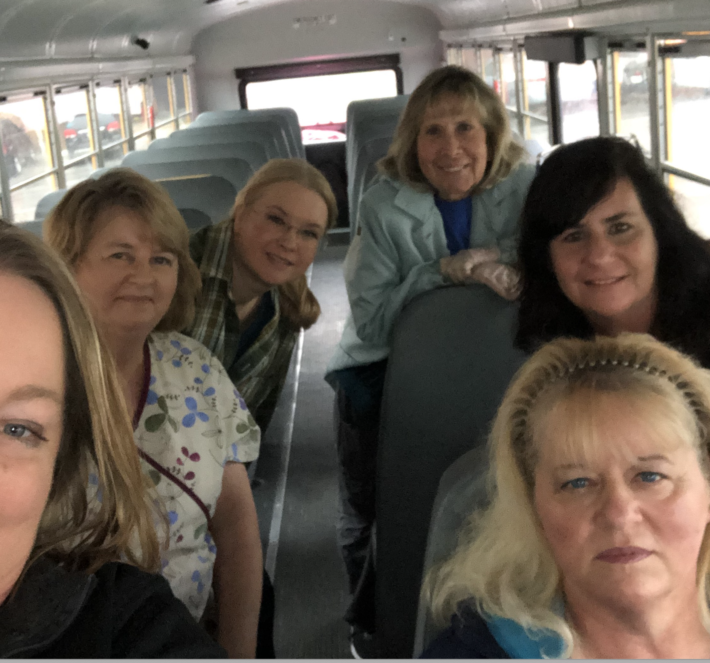 teachers on school bus