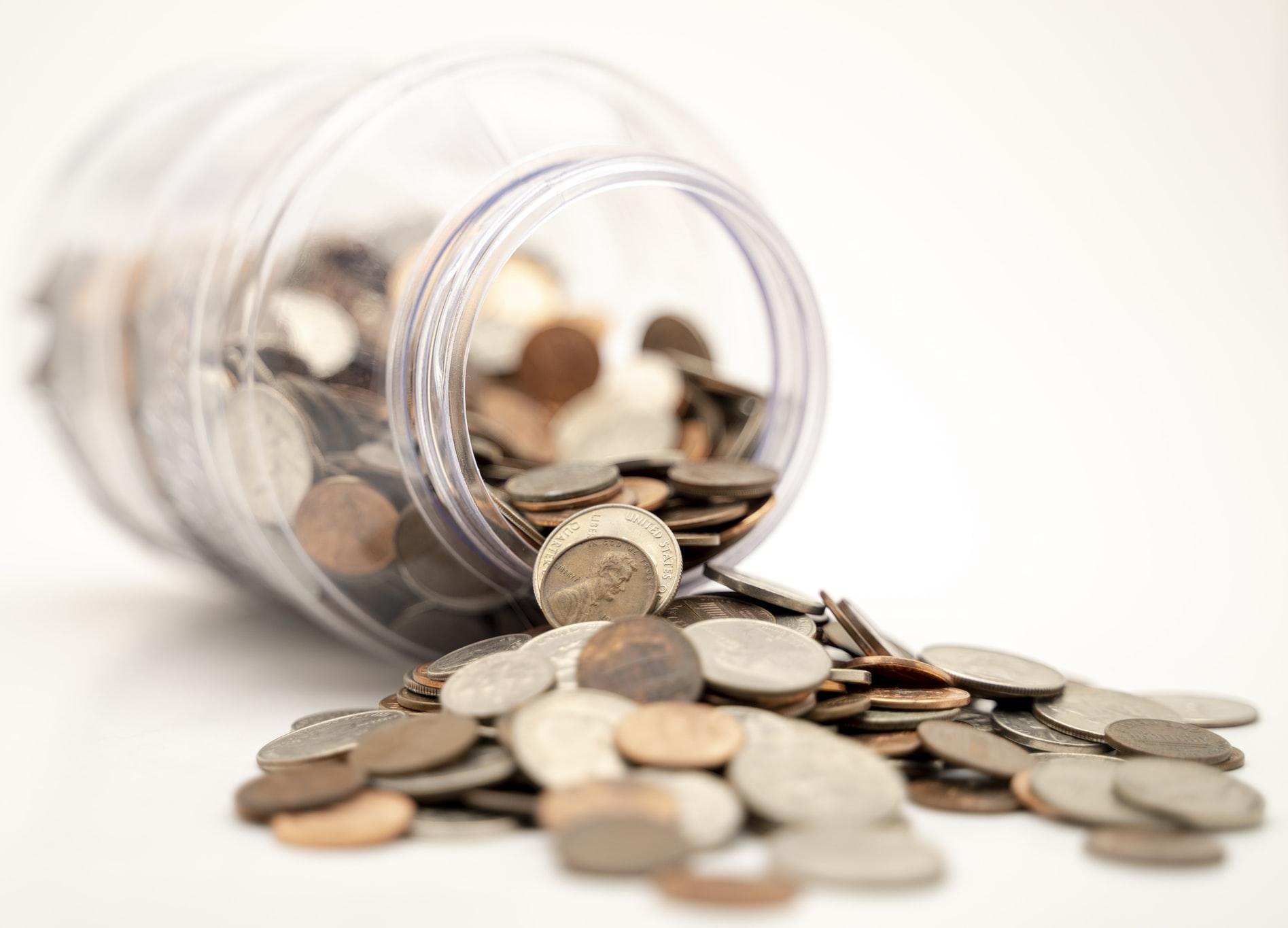 spilled coins