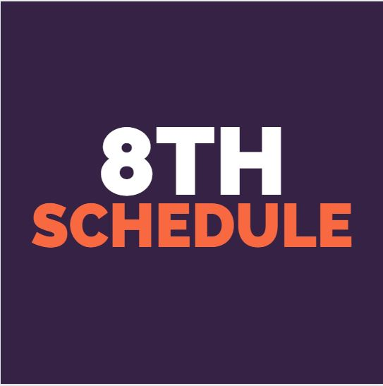 8th grade weekly schedule