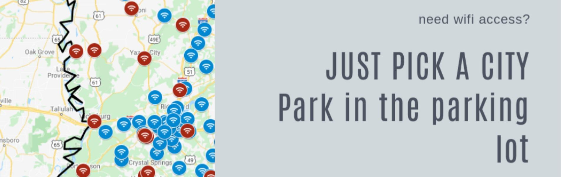 Click here to access the map for Parking Lot Wifi Access