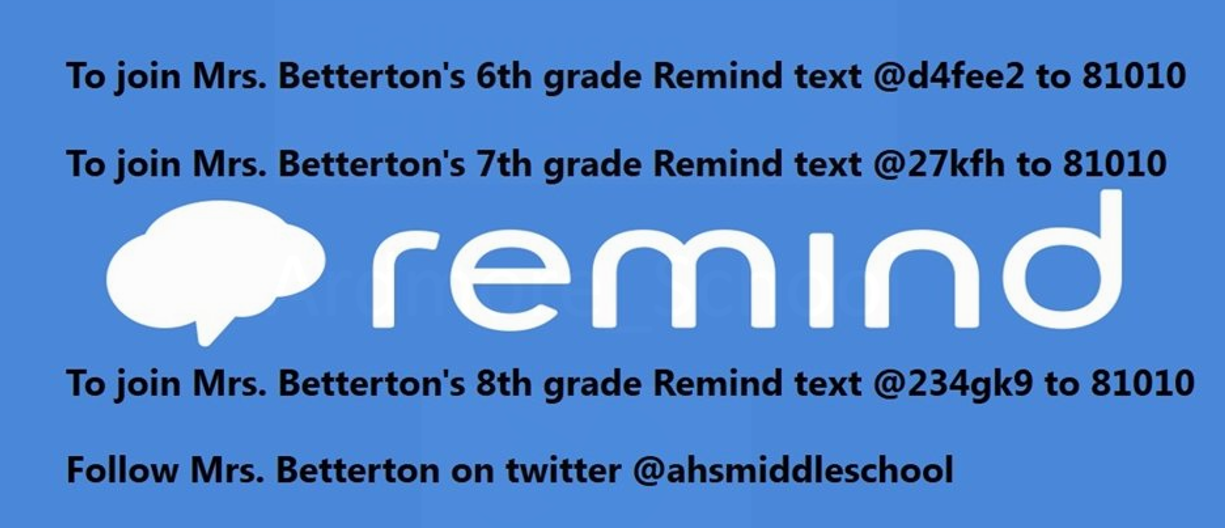 Mrs. Betterton's Remind Accounts