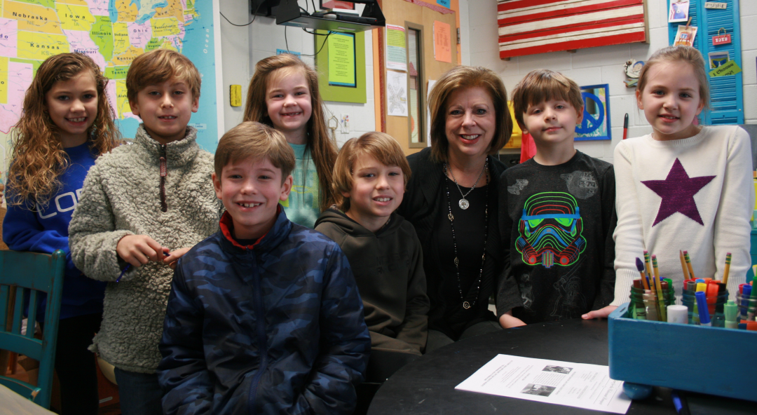 Teacher of the Year with students