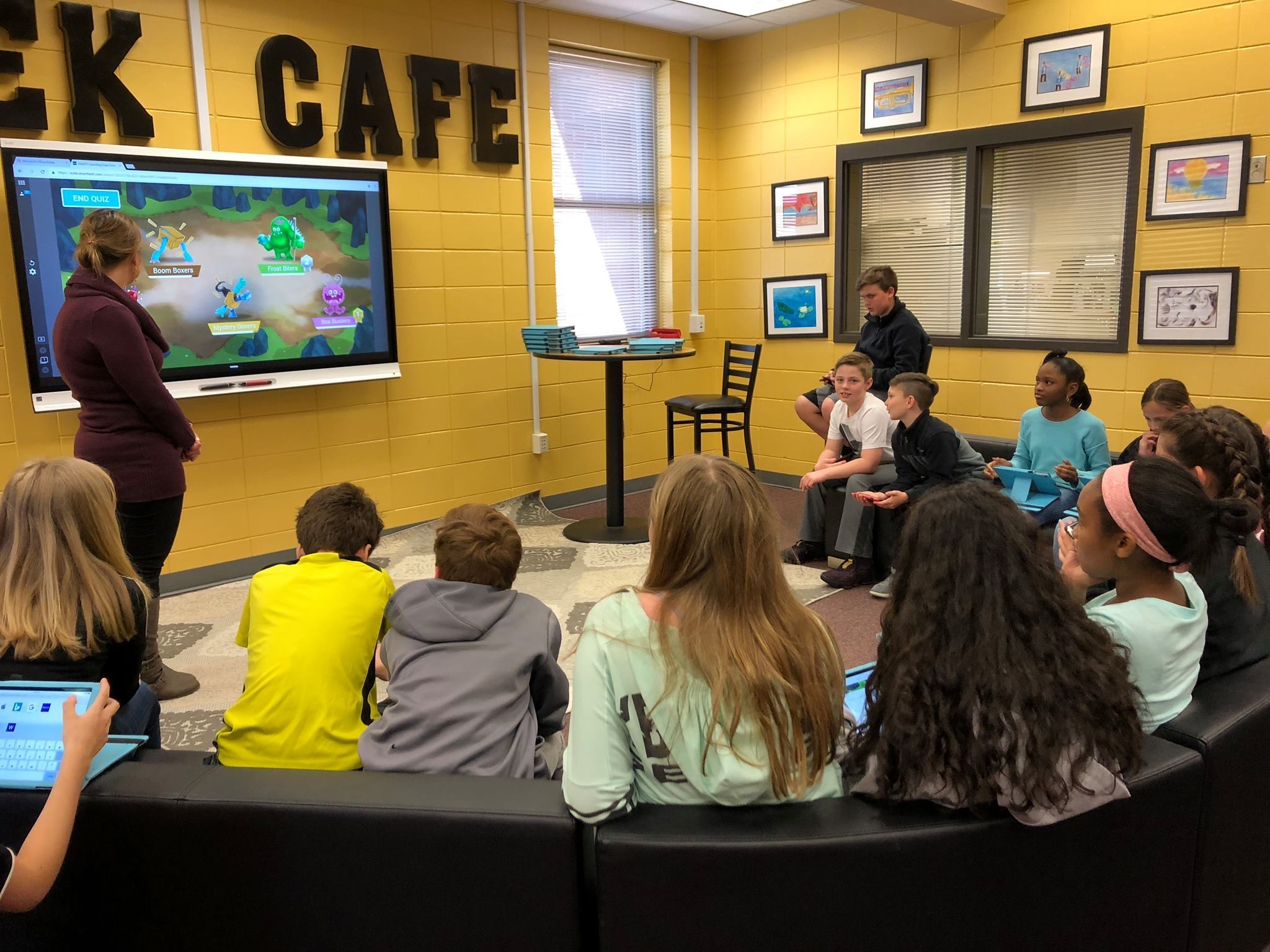 using technology in the Creek Cafe
