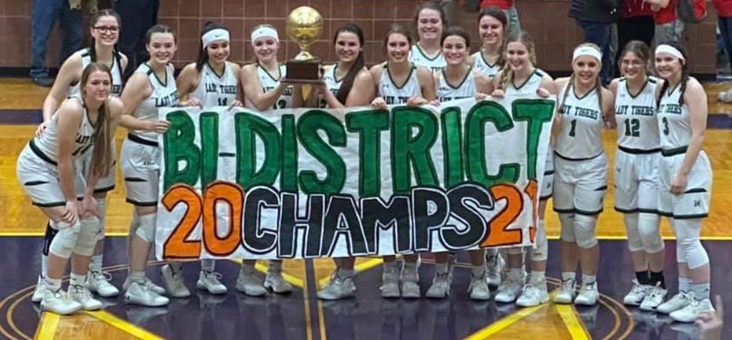 2020-21 Lady Tiger Basketball Bi-District Champs