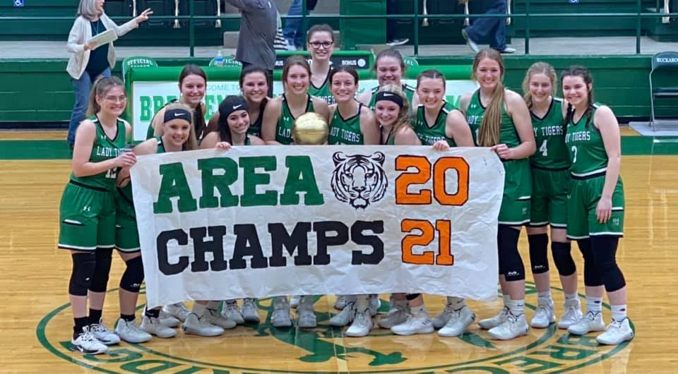 2020-21 Lady Tiger Basketball Area Champs