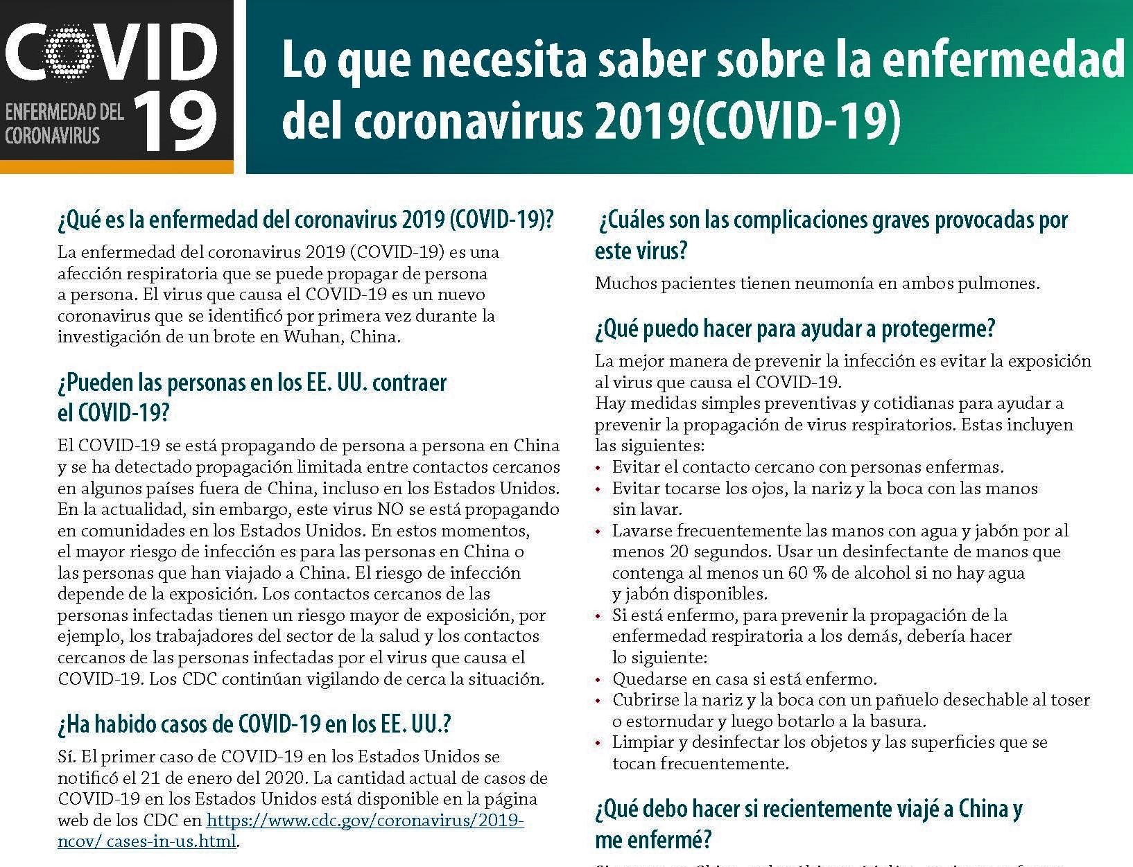 COVID-19 PDFs in Spanish