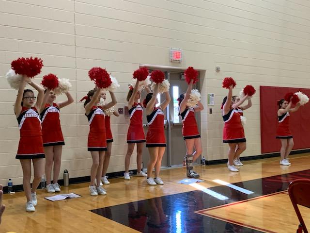 WMS Cheerleaders cheering on their Tigers!
