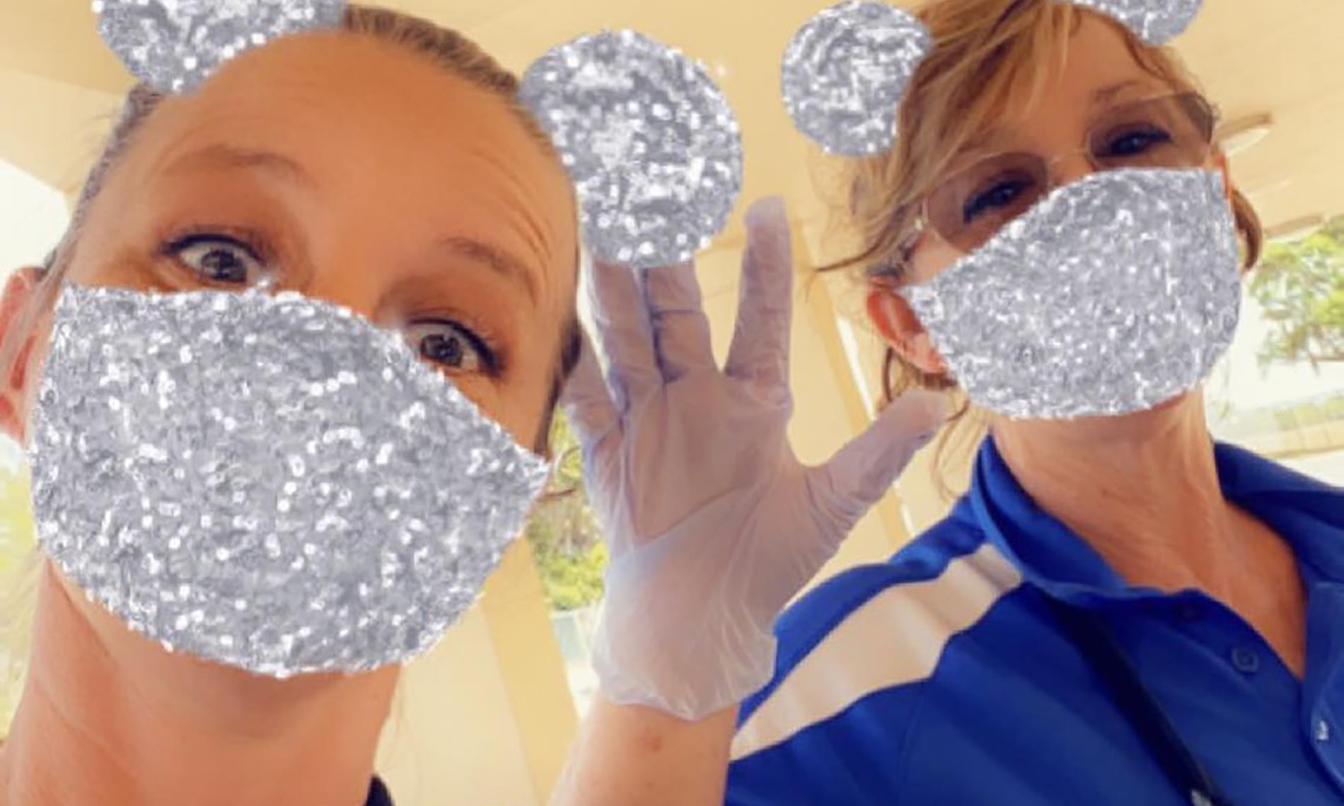 masked employees