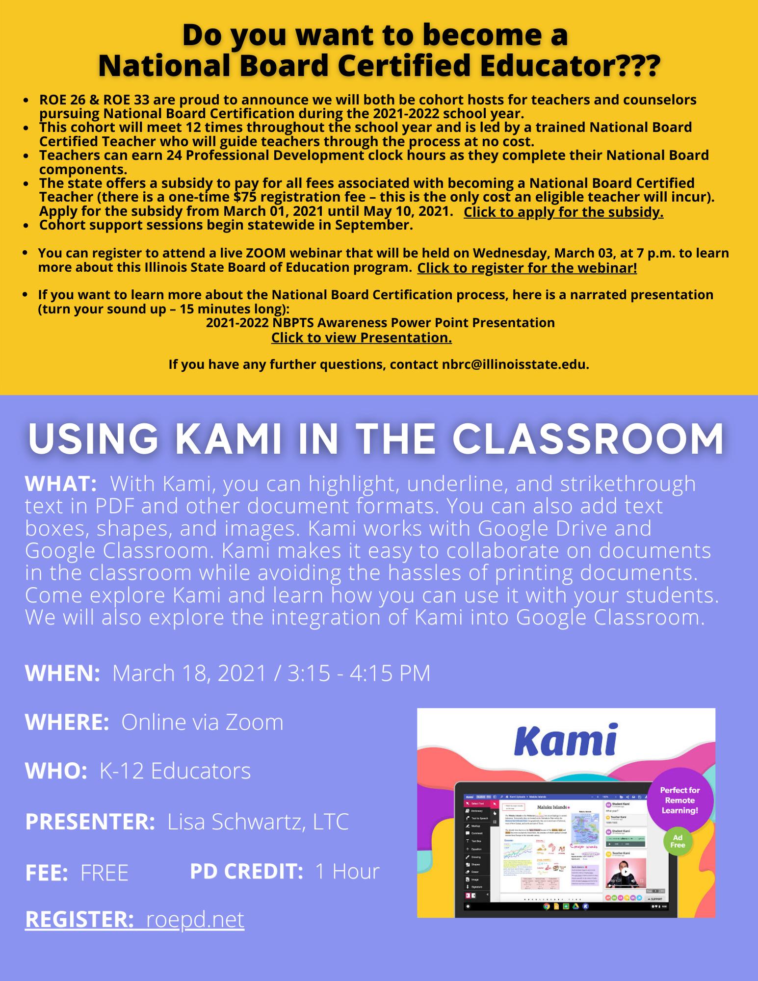 Kami in the Classroom