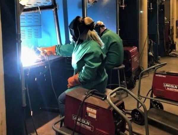 New Castle School of Trades welding class