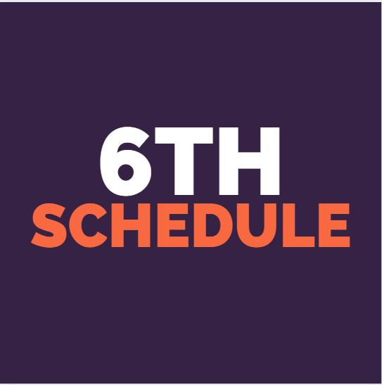 6th weekly schedule