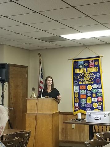 Amy Gillies Addresses Kiwanis Club