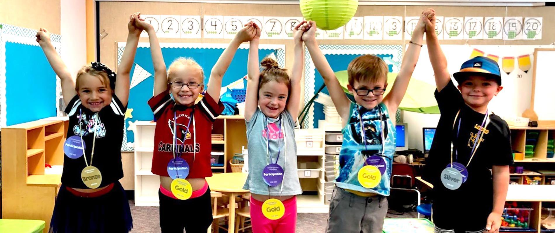 Kindergarten students earn medals
