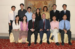DBU President  - Dr. Cook with International Students
