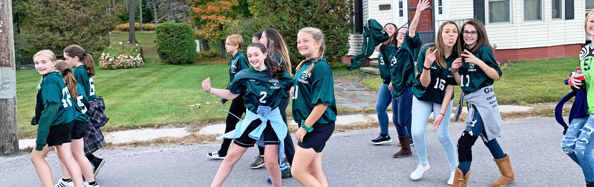 Colebrook students marching