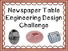 Newspaper table challenge