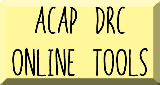 Herramientas en línea de ACAP DRC