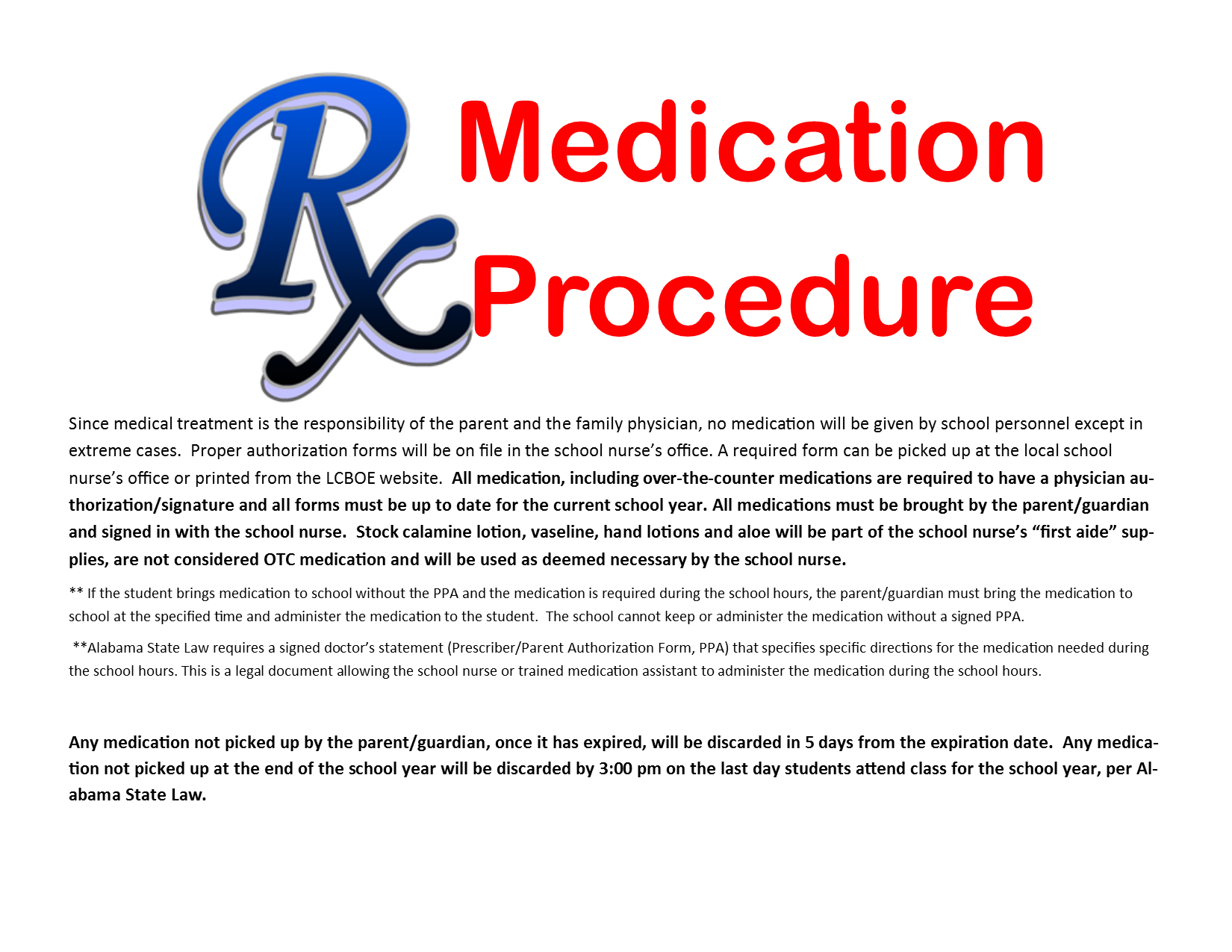 Medication Procedure