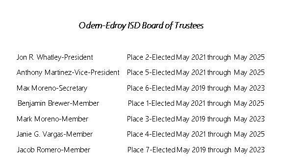Board of Trustees Election Information