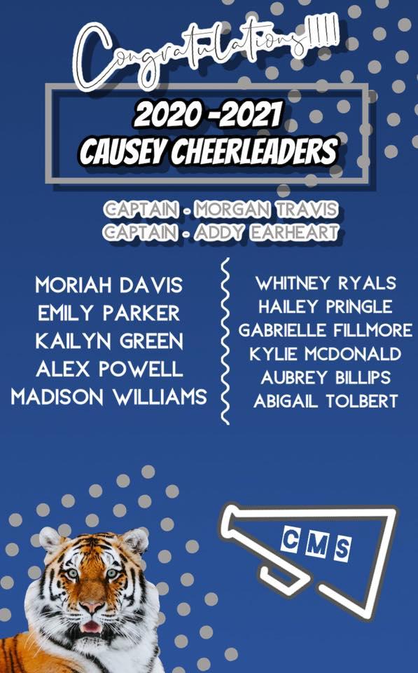 2020-2021 Causey Cheerleaders