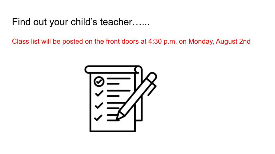 Find out who your child's teacher is