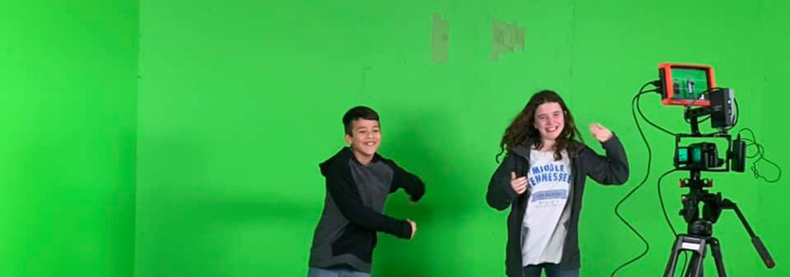 green screen candid