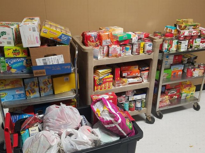 Food collected at Turkey Trot