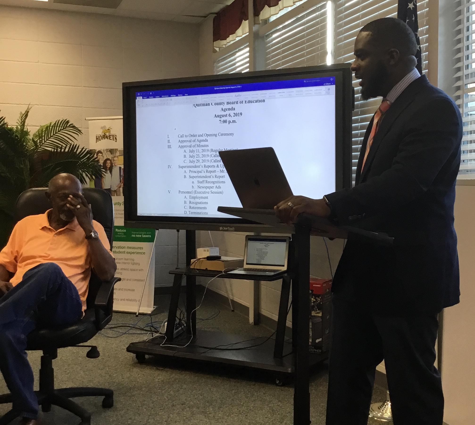 Mr Jones, Asst Superintendent and Principal