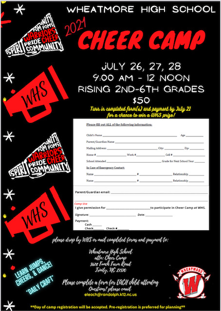 WHS Cheer Camp Info