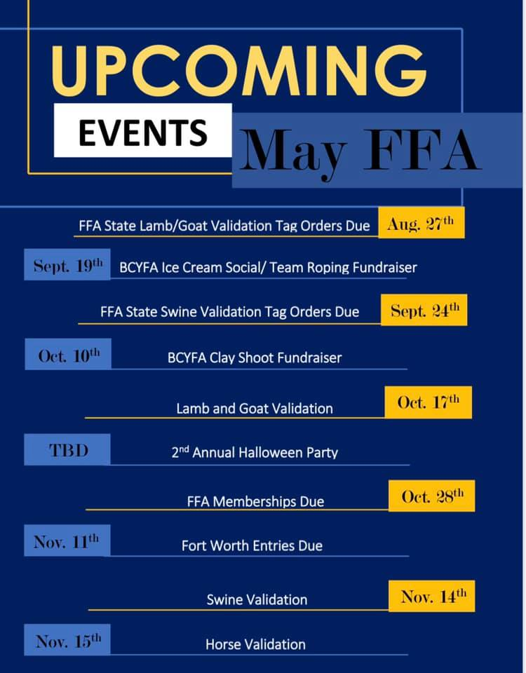 2020-21 Upcoming Events
