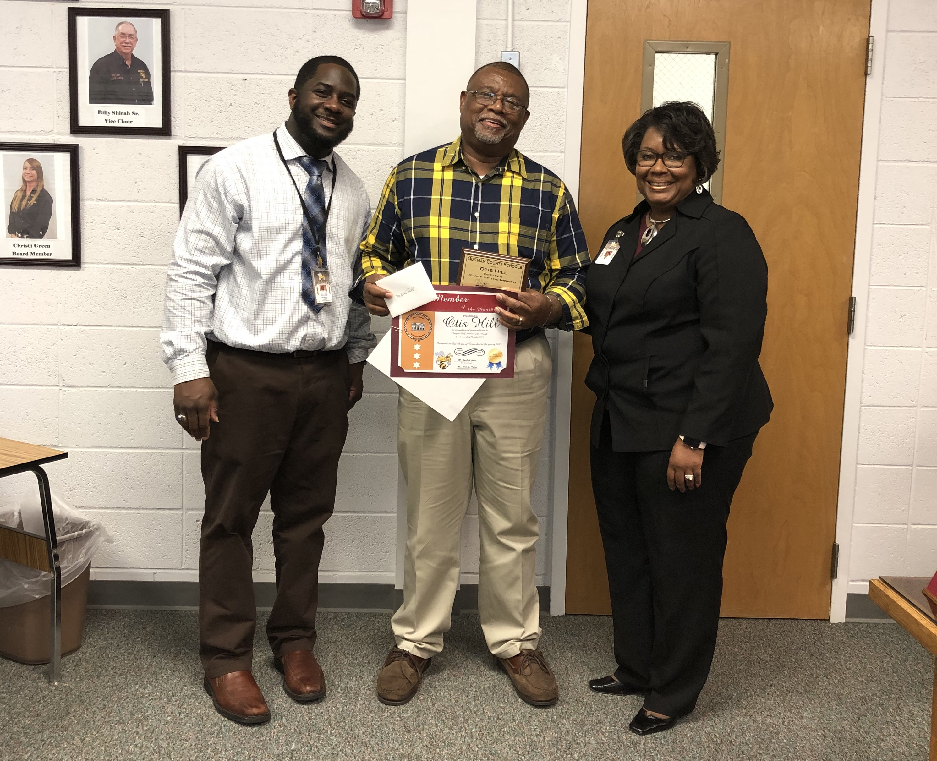 November Board Meeting - October 2019 Staff of the Month Mr Otis Hill