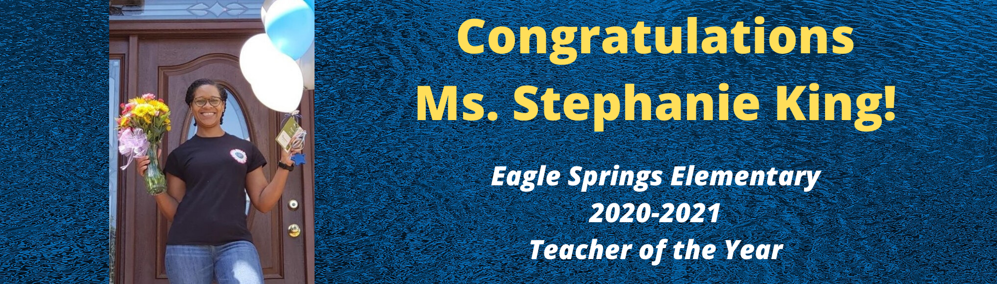 Ms. King - Teacher of the Year