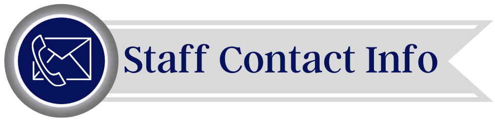 Staff Contact Info